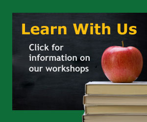 Learn With Us. Click for information on our events.